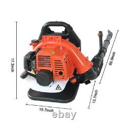 2-Stroke 32CC Gas Backpack Leaf Blower Powered Debris With Padded Harness New