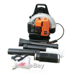 2 Stroke 65CC Backpack Leaf Blower Gas Powered Yard Sweeper 2700W 3.6 HP US Sale