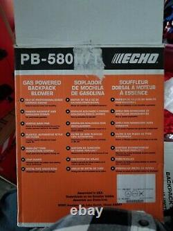 2019 ECHO PB-580T 58.2cc Gas Backpack Blower Professional Grade