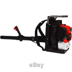 215 MPH 500 CFM 63.3cc Backpack Leaf Blower Gas Powered Engine Tube Throttle