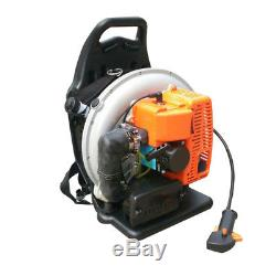 3.6hp Gas Powered Backpack Leaf Blower 2 Stroke 65CC Commercial Blower 6800RPM