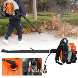 3Hp 2-Stroke 63cc High Performance Gas Powered Back Pack Leaf Blower US