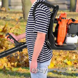 3hp High Performance Gas Powered Back Pack Leaf Blower 2-Stroke 63cc US Stock