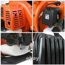 42.7CC 2-Stroke Gas Backpack Leaf Blower Powered Debris Padded Harness USA