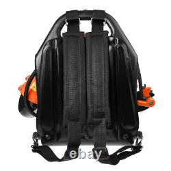 42.7CC 2-Stroke Gas Powered Backpack Leaf Blower Powered Debris Padded Harness