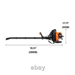 52CC 2-Stroke Gas Backpack Leaf Blower Powered Debris Padded Harness NEW USA