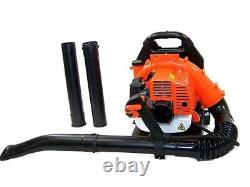 52CC 2Stroke Powered 3.2HP Gas Backpack Leaf Blower with Padded Harness EPA PH