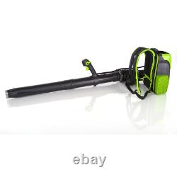 60Volt Lithium Ion Cordless Backpack Leaf Blower Well Ergonomic Design Tool Only