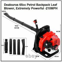 63CC 2.3Hp High Performance Gas Powered Back Pack Leaf Blower 2-Stroke RED