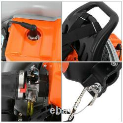 63CC 3.2HP 2 Stroke Gas Leaf Backpack Blower Powered Leaf Blower Harness Orange