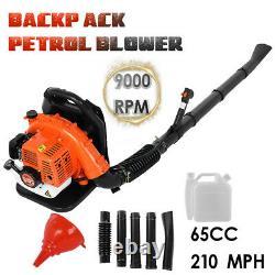 63CC 3.2HP 2Stroke Gas Backpack Leaf Blower Powered Debris Padded Harness 2.3KW