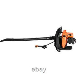 63CC 3HP High Performance Gas Powered Back Pack Leaf Blower 2 Stroke Engine