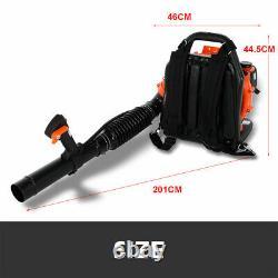 63CC Backpack Leaf Blower 2.3HP Gas Powered Back Pack Leaf Blower 2-Stroke