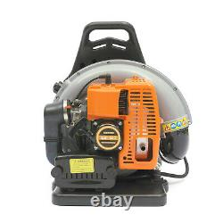 65cc 2 Stroke High Performance Gas Powered Back Pack Leaf Blower Air-cooled USA