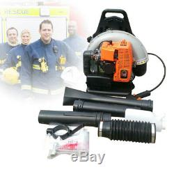 65cc 2-Stroke High Velocity Backpack Leaf Blower Gasoline Grass Commercial 2.7Kw