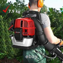 65cc Petrol Lightweight Backpack Leaf Blower Powerful 2 Stroke Air Cooled Engine