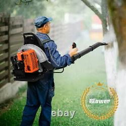 80CC 2-Stroke 850CFM Commercial Backpack Leaf Blower Gas Powered Blower 2.1KW