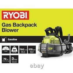 BRAND NEW Ryobi 175 MPH 760 CFM 2 Cycle Backpack Blower (RY38BP)