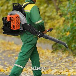 Back Pack Leaf Blower Pull Starting 80cc 2 Stroke 230MPH Gas Powered 850 CFM US