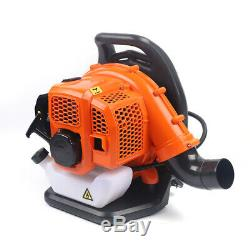 Backpack Blower Gas Powered Leaf Lawn Grass Blower Leaf Grass 2-Strokes Orange