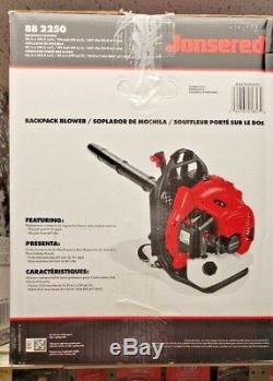Backpack Blower JONSERED leaf Blower BB2250 191mph, 50.2cc NEW