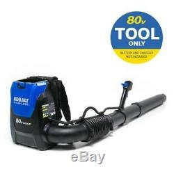 Backpack Leaf Blower Back Pack Tool Only 80V Powered 580-CFM 145-MPH Speed Cycle