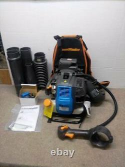 Backpack Leaf Blower Gas 470 CFM Adjustable Belt Variable Speed Electronic Start