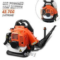 Commercial Gas Leaf Blower Backpack Gas-powered Backpack Blower 2-Strokes 42.7CC