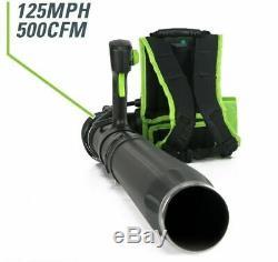 Cordless Backpack Leaf Blower Greenworks Pro 60-V Lithium Ion 540-CFM 140-MPH