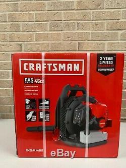 Craftsman 46cc 2-Cycle 220-MPH 490CFM Gas Backpack Leaf Blower CMXGAAH46BT NEW