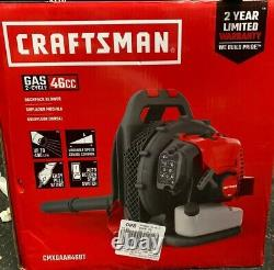 Craftsman CM46BT CMXGAAH46BT 46cc 2-Cycle Gas Backpack Blower. Open New