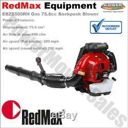 EBZ8500RH RedMax Commercial Gas 75.6 cc 206MPH Backpack Leaf Blower