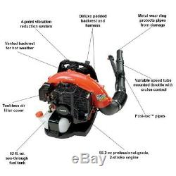 ECHO 215 MPH 510CFM 582cc Gas 2Stroke Cycle Backpack Leaf Blower withTube Throttle