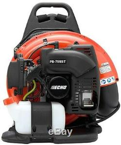 ECHO 233 MPH 651 CFM 63.3cc Gas Backpack Leaf Blower Tube Throttle Padded