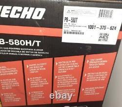 ECHO BACK PACK BLOWER P/B 580h/t brand new. READ DESCRIPTION