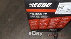ECHO Backpack Gas Leaf Blower PB-580HT 215 MPH 510 CFM 58.2cc 2-Stroke Cycle