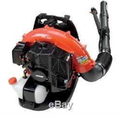 ECHO Backpack Leaf Blower 215 MPH 510 CFM 58.2 cc Gas 2-Stroke Padded Backrest
