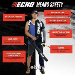 ECHO Backpack Leaf Blower Hip Throttle 58.2 cc Gas 2-Stroke Vented Recoil Start