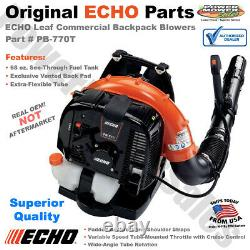 ECHO Leaf Commercial Backpack Blowers, Extra-Flexible Tube, Cruise Control