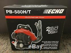 ECHO PB-580H/T 215 MPH 510 CFM 58.2cc Gas 2-Cycle Backpack Leaf Blower NEW