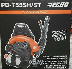 ECHO PB-755SH/ST 233 MPH 651 CFM 63.3cc Gas Backpack Leaf Blower