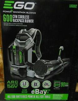 EGO Leaf Blower Cordless Backpack 56-Volt Lithium-ion 5.0Ah Var. Speed LB6002
