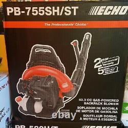 Echo Gas Powered Back Pack Leaf Blower 63.3cc (new) Model # Pb-755sh/st