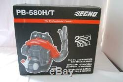 Echo PB-580H/T 517 CFM 58.2 cc Gas 2-Stroke Cycle Backpack Leaf Blower with Hip Tr