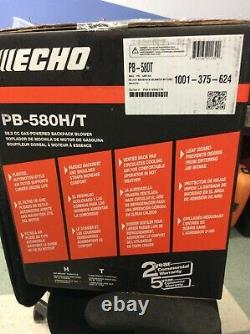 Echo PB-580H/T 517 CFM 58.2 cc Gas 2-Stroke Cycle Backpack Leaf Blower with Tube
