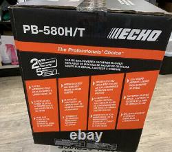 Echo PB-580H/T 58.2cc Gas Backpack Professional Grade Blower