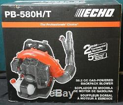 Echo PB-580HT 216 MPH 517 CFM 58.2cc Gas 2-Stroke Cycle Backpack Leaf Blower NEW