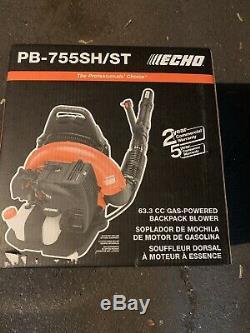 Echo PB-755SH-ST 63.3CC GAS BACKPACK LEAF BLOWER PB-755ST 233 MPH Pb755SH 2 Strk