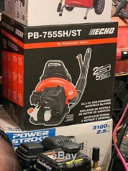 Echo PB-755SH/ST CFM 63.3cc Gas 2-Stroke Cycle 233 MPH Backpack Leaf Blower nib