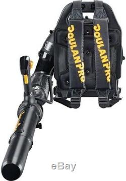 Gas Powered Backpack Leaf Blower Clearing Grass Adjustable Speed Antivibration